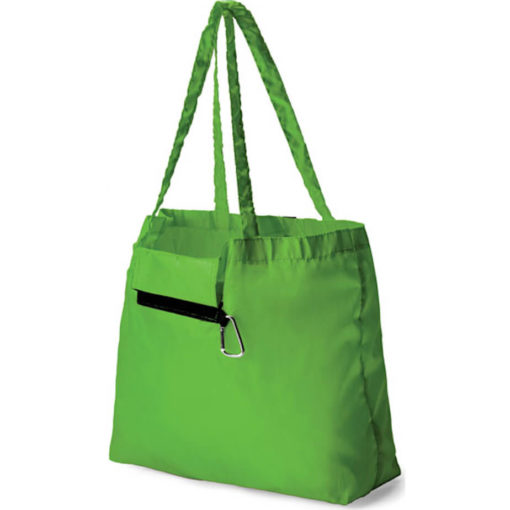 Foldable Tote with Carabiner
